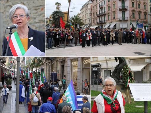 """Sanremo onora il 25 aprile: corteo per le vie del centro e un messaggio ai giovani """"Costruire un futuro migliore per essere davvero liberi"""" (Foto e Video)"""