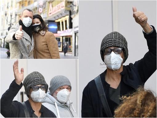 L'arrivo di Fiorello all'hotel Globo (foto Tonino Bonomo)