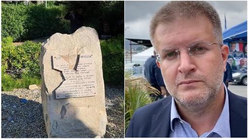 """Ventimiglia: atti vandalici al monumento dei Martiri delle Foibe, Fidanza (FdI) """"Gesto ignobile"""""""