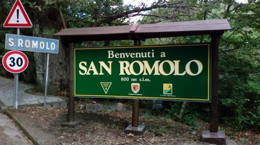 Sanremo: sistemato dal Comune il cartello di benvenuto a San Romolo e pulita l'area di ingresso alla frazione