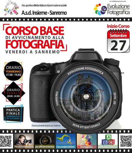 Sanremo: ultimi giorni per iscriversi al corso base di fotografia organizzato dalla Asd Insieme