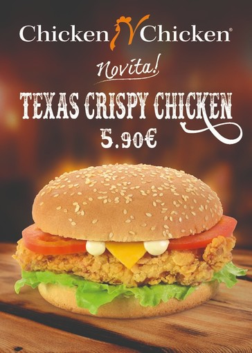 Da Chicken n Chicken grande novità! Per la prima volta in Italia: Texas Crispy Chicken, pollo marinato in una croccantissima panatura
