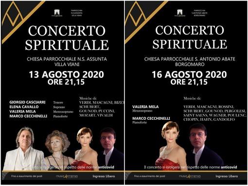 A Villa Viani e Borgomaro, il 13 e il 16 agosto appuntamento con la musica sacra