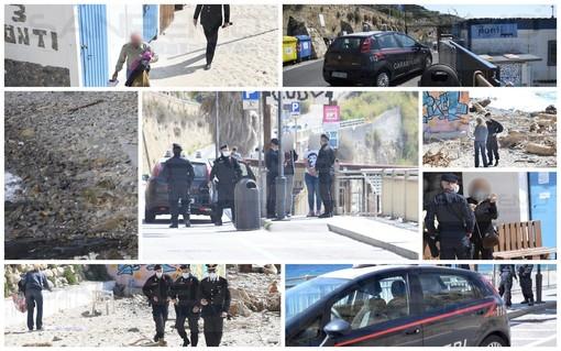 Sanremo: serie di controlli dei Carabinieri per Pasqua, verificate molte persone in strada e sulle spiagge (Foto)