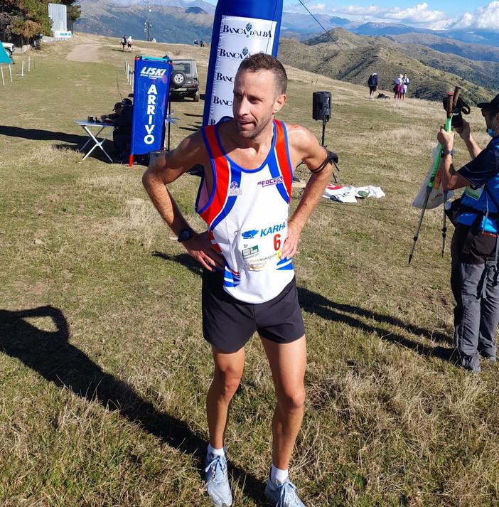 Atletica: ottimo terzo posto per l'atleta della As Foce Sanremo Cristiano Salerno sul Monte Faudo