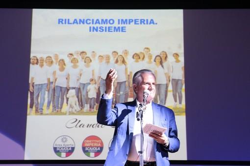 Elezioni comunali a Imperia: in 700 per Claudio Scajola all'Auditorium, l'ex Ministro presenta le quattro liste (Foto e Video)