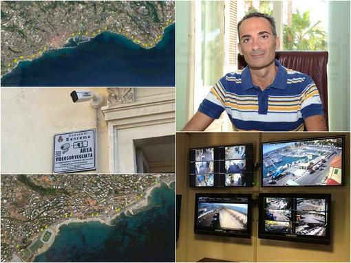 """Sanremo: videosorveglianza, con il nuovo bando arriveranno altre 103 telecamere, 64 per la ciclabile. Il Grande """"Passo importante, sono atti concreti"""""""