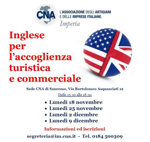 Imperia: inglese per l'accoglienza turistica e commerciale, al via un corso in CNA