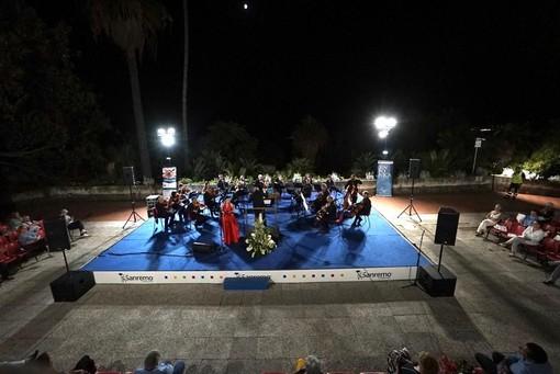 Sanremo: grande successo e richiesta di bis ieri al concerto della Sinfonica con Gabriella Costa