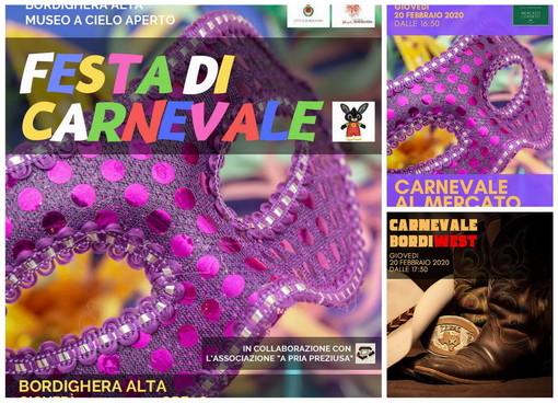 Bordighera: oggi pomeriggio serie di appuntamenti per un lungo Carnevale che terminerà nella città alta