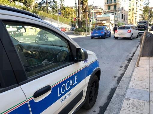 Sanremo: scattati questa mattina i controlli della Municipale per chi arriva dal distretto ventimigliese (Foto e Video)