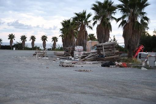 L'allestimento del cantiere (foto Tonino Bonomo)