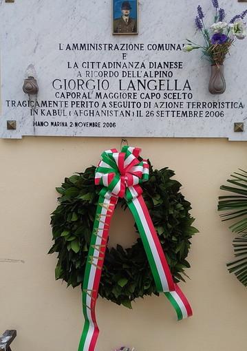 Diano Marina: oggi commemorazione del CMCS Giorgio Langella caduto in Afghanistan