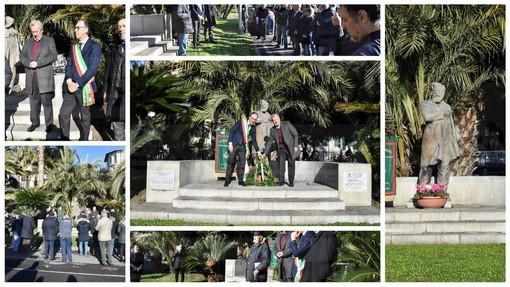 Sanremo: il Sindaco Biancheri e l'Assessore Donzella alla cerimonia per ricordare Orazio Raimondo (Foto)