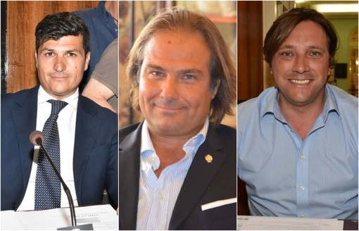 Da sinistra: Daniele Ventimiglia (Lega), Luca Lombardi (FdI) e Simone Baggioli (FI)