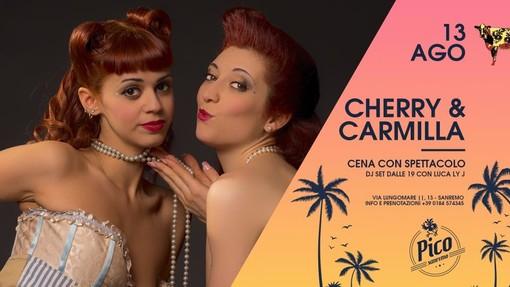 Sanremo: questa sera al Pico de Gallo cena-spettacolo in riva al mare con Cerry&Carmilla