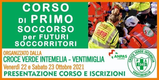 La Croce Verde Intemelia apre le porte ai nuovi volontari soccorritori: al via i corsi