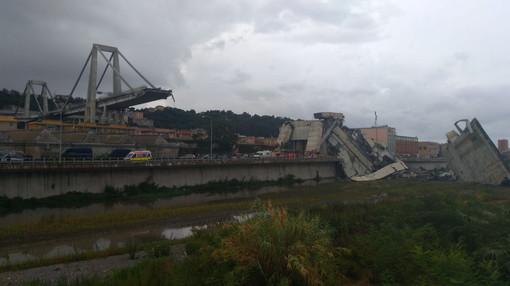 """Il ponte """"Morandi"""" un anno fa"""
