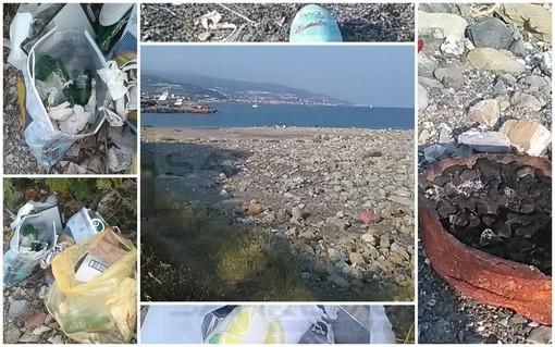 Sanremo: dopo la festa organizzano un party in spiaggia lasciandola nel degrado, la denuncia (Foto)
