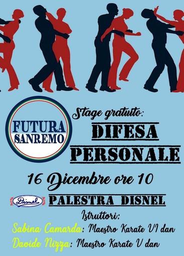Alla palestra 'Disnel' il corso di difesa personale gratuito organizzato da Futura Sanremo