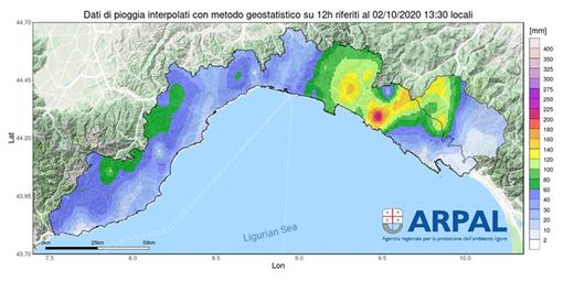 Perché allerta rossa su tutta la Liguria tranne che la costa fra Genova e Savona? Risponde l'Arpal