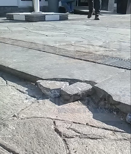Sanremo: danni sul solettone al termine dello smontaggio del palco, ora servono alcuni interventi di riparazione (Foto)