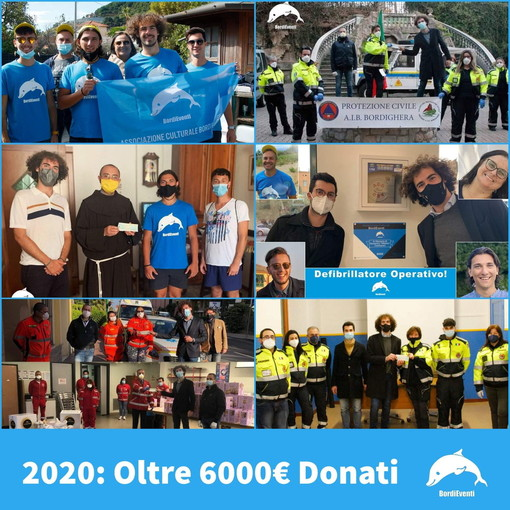 Bordighera: grazie all'associazione culturale 'BordiEventi' raccolti 6.000 euro per i più bisognosi