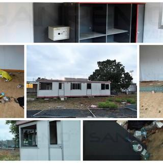 Sanremo: a Pian di Poma container vandalizzato e preda dei clochard, situazione di degrado (Foto)