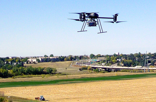 Un drone in azione