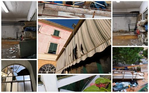 Situazione di degrado alla Casa di Riposo e Pensionato di via Agnesi ad Imperia: l'allarme della Uil Fpl (Foto)