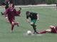 Il difensore Giacomo Lanteri in azione con la maglia della Sanstevese: è un giocatore dell'Atletico Argentina