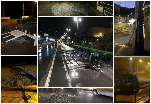 Temporale nella notte e danni contenuti tra San Lorenzo e Diano Marina: situazione sotto controllo (Foto)