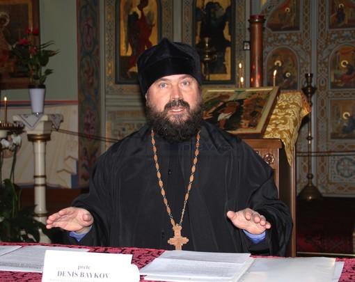 Denis Baykov, parroco della chiesa Russa di Sanremo