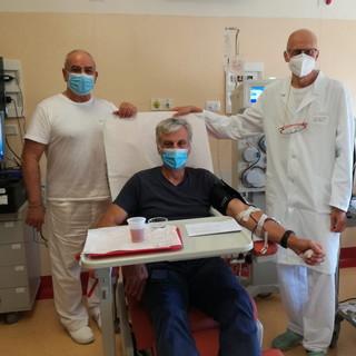 Svolte ieri le prime donazioni di plasma iperimmune al Centro trasfusionale dell'ospedale di Imperia