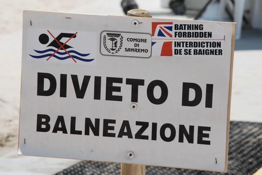 Sanremo: esito negativo delle analisi Arpal, divieto di balneazione alla spiaggia dell'Antenna