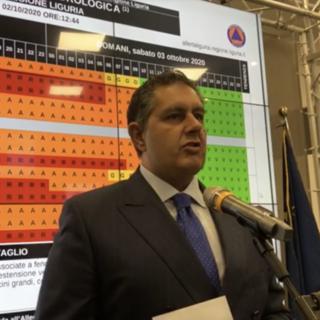 """Maltempo, Toti: """"Allerta rossa su tutta la Liguria, precipitazioni importanti fino a domattina"""""""