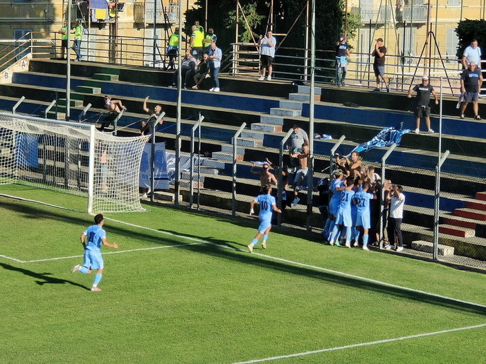 Calcio, Coppa Italia: la Sanremese passa al 'Ciccione' 2-1, decisiva la doppietta di Diego Vita (Foto)