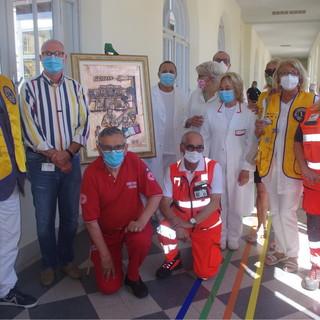 Sanremo: stamattina in ospedale al 'Borea' per la donazione di un opera di rame per ringraziare al personale