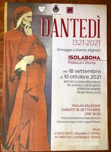 Isolabona: da domani al via 'Dantedì', la mostra che omaggia il sommo poeta