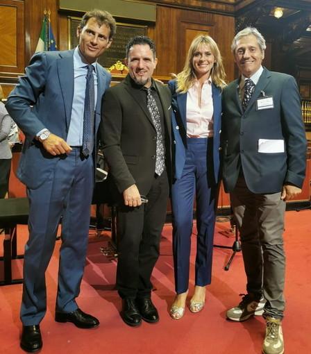 Anche un po' di Sanremo sabato scorso a Palazzo Madama per l'omaggio a Napoli con 'Senato e Cultura'