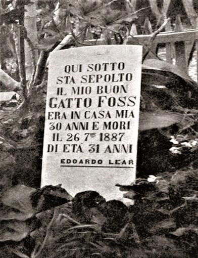 Edward Lear e la tomba del gatto Foss