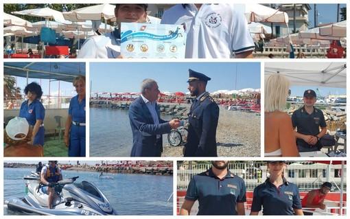 Grande successo ad Imperia per il progetto della Polizia di Stato 'Spiagge Sicure', in collaborazione con la Croce Rossa Italiana (Foto e Video)