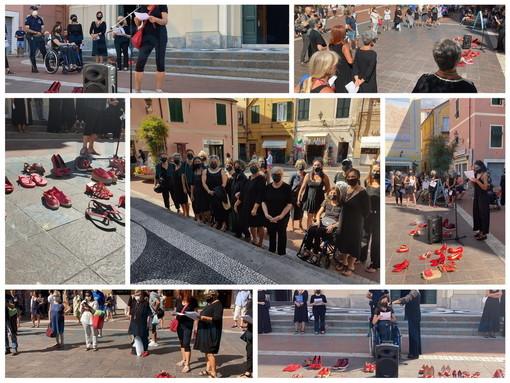 Imperia: 'Flash Mob' contro la violenza sulle donne, il toccante racconto della morte della ventimigliese Sharon Micheletti (Foto e Video)