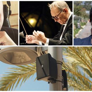 Taggia ha reso omaggio a Ennio Morricone: una selezione dei suoi brani trasmessa in filodiffusione sul lungomare (Foto e video)