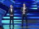Amadeus e Zlatan Ibrahimović ieri sera sul palco dell'Ariston