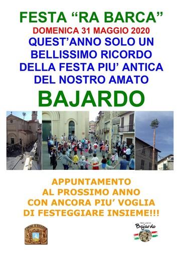 Bajardo: i Bajocchi ricordano la tradizionale 'Antica Festa Ra Barca' e danno l'appuntamento al 2021