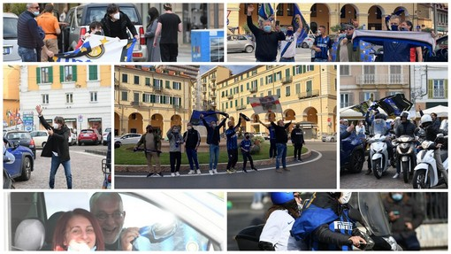 Dopo nove anni di dominio Juve l'Inter torna a vincere lo scudetto: esplode la gioia dei tifosi anche a Sanremo e Imperia (Foto e Video)