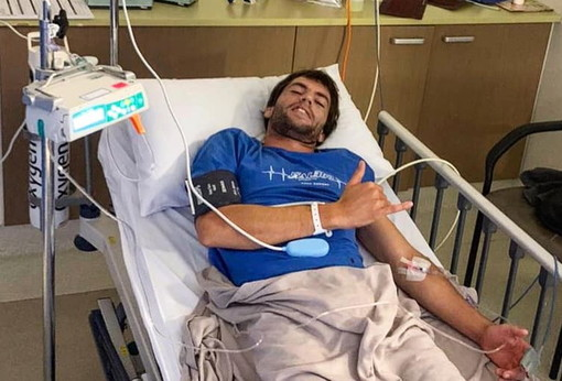 Incidente per il campione bordigotto di windsurf Federico Infantino: grosso rischio ma ora sta meglio