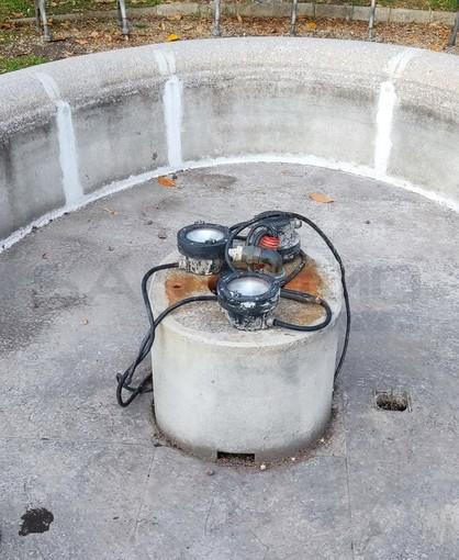 Sanremo: degrado assenza di acqua dalle fontane a Villa del Sole, la segnalazione di un cittadino (Foto)