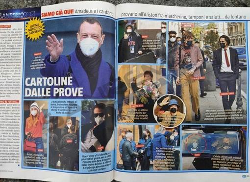 La doppia pagina di 'Tv Sorrisi e Canzoni' con le foto di Tonino Bonomo
